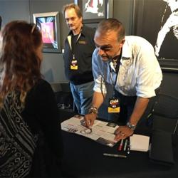 Artist Joe Petruccio drew Elvis images in fans