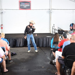 The Entertainment Tent at Elvis Week kept audiences happy with a mix of professional performers and amateurs.