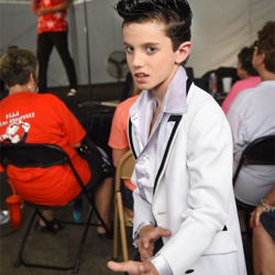 Young Elvises even got into the act at the Elvis Week Entertainment Tent.