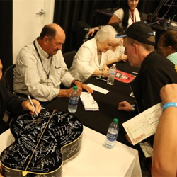 Special guests signed autographs after the Official Graceland Insiders Conference.