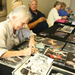 Special guests signed autographs following the Elvis in the Movies panel.