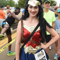 Runners dressed up in all kinds of costumes for the race.