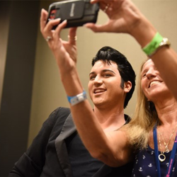 Ultimate Elvis Tribute Artist Contest Finalists signed autographs and snapped selfies with fans during Elvis Week.