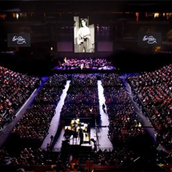 Thousands of fans attended the Elvis: Live in Concert event at the FedEx Forum during Elvis Week.