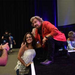 Jerry Phillips chatted with fans and posed for photos following the Salute to Sun concert.