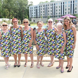 "Guests enjoyed a ""Blue Hawaii""-themed luau at The Guest House at Graceland."