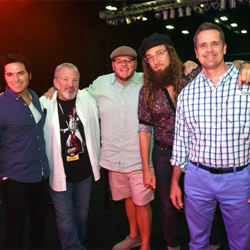 Elvis Week hosts Dean Z, Tom Brown, DJ Argo, Memphis Jones and Joey Sulipeck hosted the Elvis Fan Reunion.