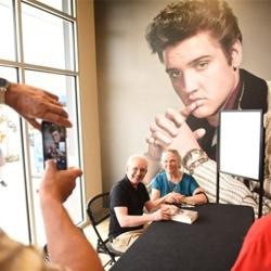 Fans lined up to meet Elvis biographer Peter Guralnick after Elvis 101.