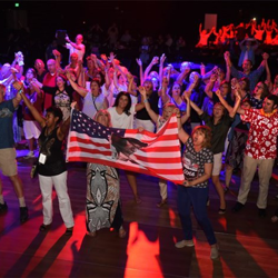 Elvis fans danced the night away at the sold-out Elvis Week Dance Party.