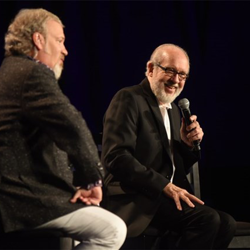 Host Tom Brown interviews Norbert Putnam, who recorded with Elvis, at Conversations on Elvis: In the Studio.