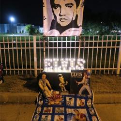 Elvis tributes lined Elvis Presley Boulevard.