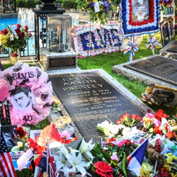 Fans from around the world sent memorials and flowers for Elvis