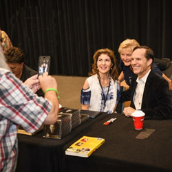 Billy Blackwood posed for photos and signed autographs after Conversations on Elvis: Connections.