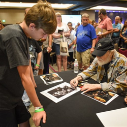 Ronnie Tutt signed autographs following the Elvis Week Brunch.