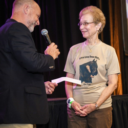 Fan club presidents presented their charitable donations during Elvis Week.