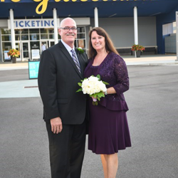 This couple were married at Graceland