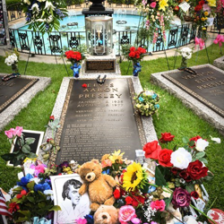 Thousands of fans send flowers to the Presley family graves during Elvis Week.