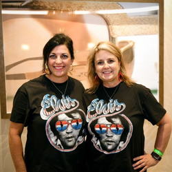 Elvis t-shirts are a fashion must during Elvis Week.