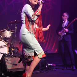 Celine Lee and the Texas Three performed at the Musical Salute to Elvis concert.