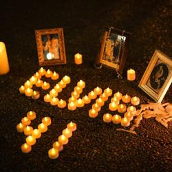 Fans created tributes for Elvis on Elvis Presley Boulevard.