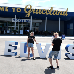 Fans snapped photos with our big ELVIS WEEK letters.