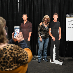 Fans had a blast taking photos with the cast stand-ups!