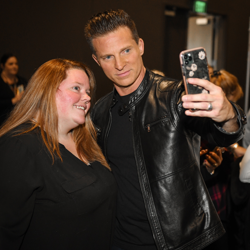 Steve Burton never turns down a selfie.