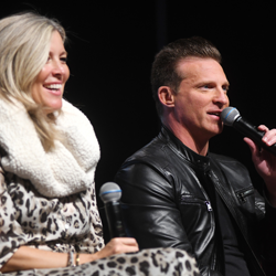 Laura Wright and Steve Burton shared stories and smiles at this panel.