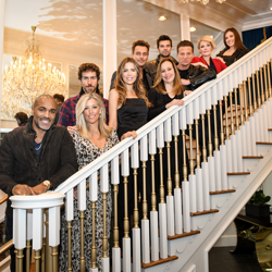 "Members of the ""General Hospital"" cast on the staircase at The Guest House at Graceland."
