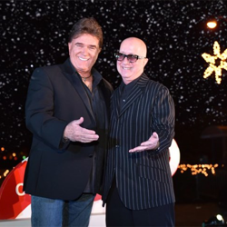 T.G. Sheppard brought his friend, musician Paul Shaffer, along for the Christmas festivities.