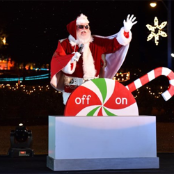Santa greeted fans at the Graceland Lighting Ceremony.