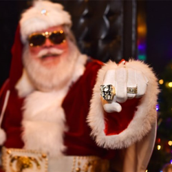 Santa found inspiration in the King of Rock