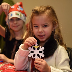 After the Lighting Ceremony, kids got creative making ornaments and hats at the Graceland ticket office.