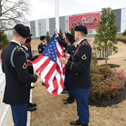 Members of Elvis' Army unit, the 1st Squadron, 32nd Cavalry Regiment, conducted an official Reveille flag-raising ceremony.