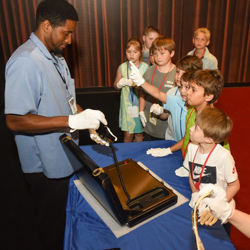 The Graceland Archives Team allowed the campers to get up close and personal with Elvis artifacts.