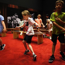 The kids show off their best Elvis moves!