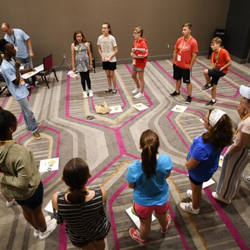 Students rotated between acting, dancing and singing workshops.