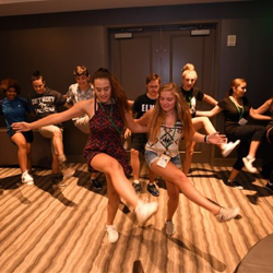 These kids perfected their moves in the dance workshop.