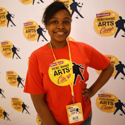 Allie, from Memphis, enjoyed her time at the Performing Arts Camp.