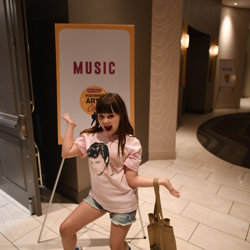 Willa is excited for music class!