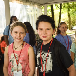 Elizabeth and Finley were part of the Red Jailhouse Rockers group.