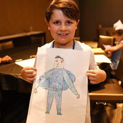 Campers also took the time to create works of art!