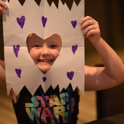Our campers, like Kizzie, let the creative juices flow in crafts.
