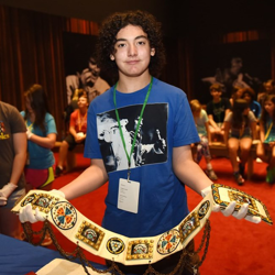 Aidan and other campers learned about Elvis in an Elvis 101 class.