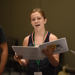 Campers worked hard to learn songs for the final performance.