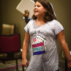 Calise enjoyed the singing workshop.
