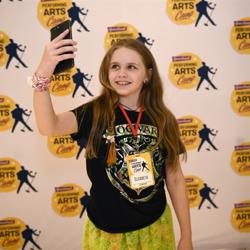 Elizabeth snaps a selfie at camp!