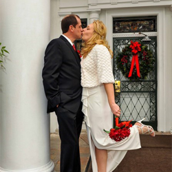 Lisa Moore and Mike Akers of Lakeland, Tennessee were married at the Graceland Chapel in the Woods on December 13, 2014.