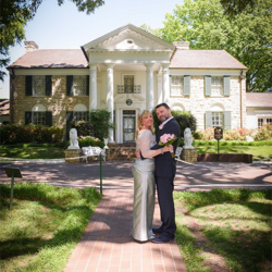 Stephanie Cork and James Pippard from Kent, UK, were married at Graceland