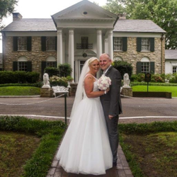 Serena Salter and Sean Jarvis from the United Kingdom were married at Graceland